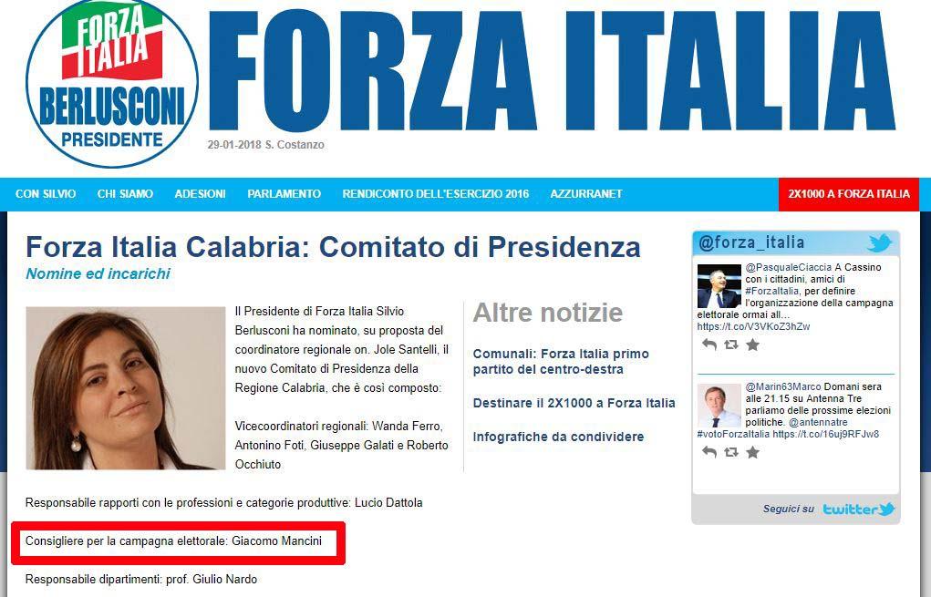 sito incarichi forza italia