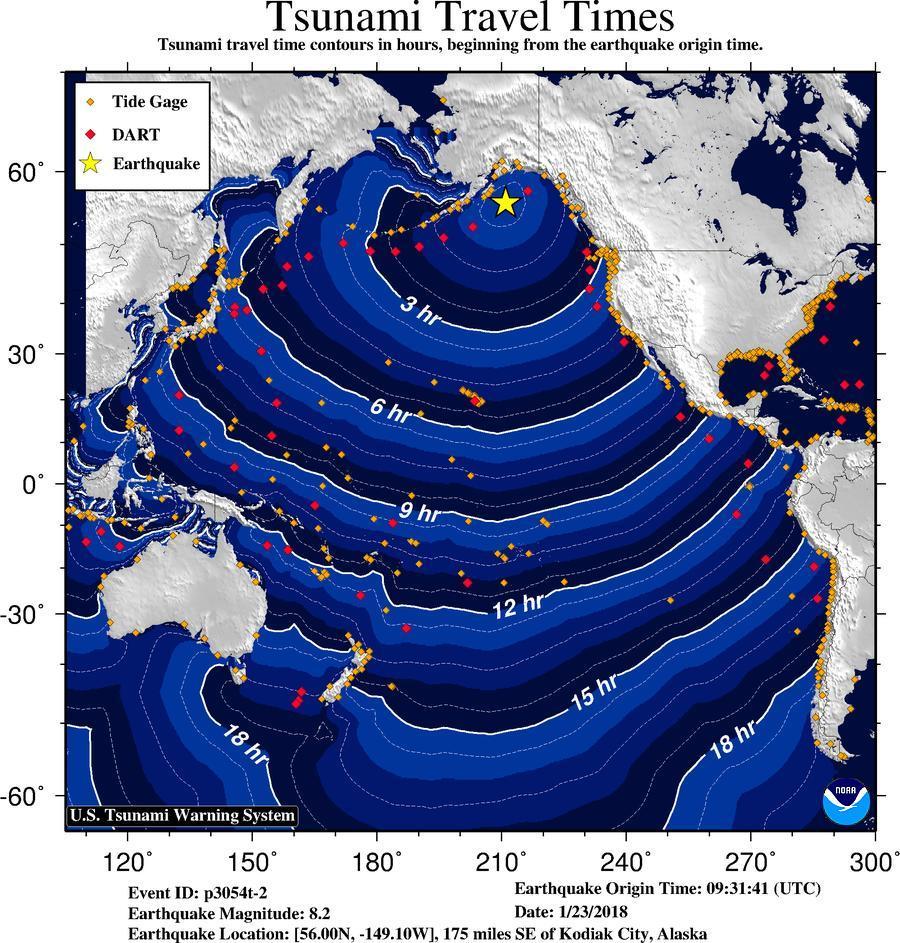 tsunami Alaska Canada