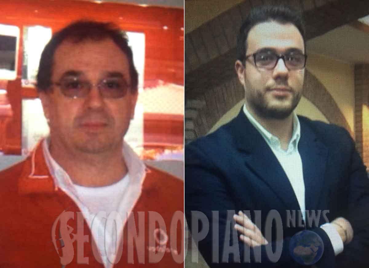 Da sinistra Salvatore Giordano e Giovanni Giordano, due delle persone trovate uccise a Rende