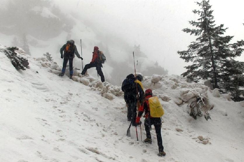 Valanga neve montagna