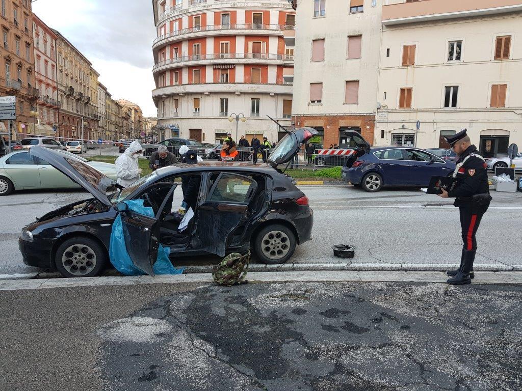 L'Alfa Romeo 147 di Luca Traini