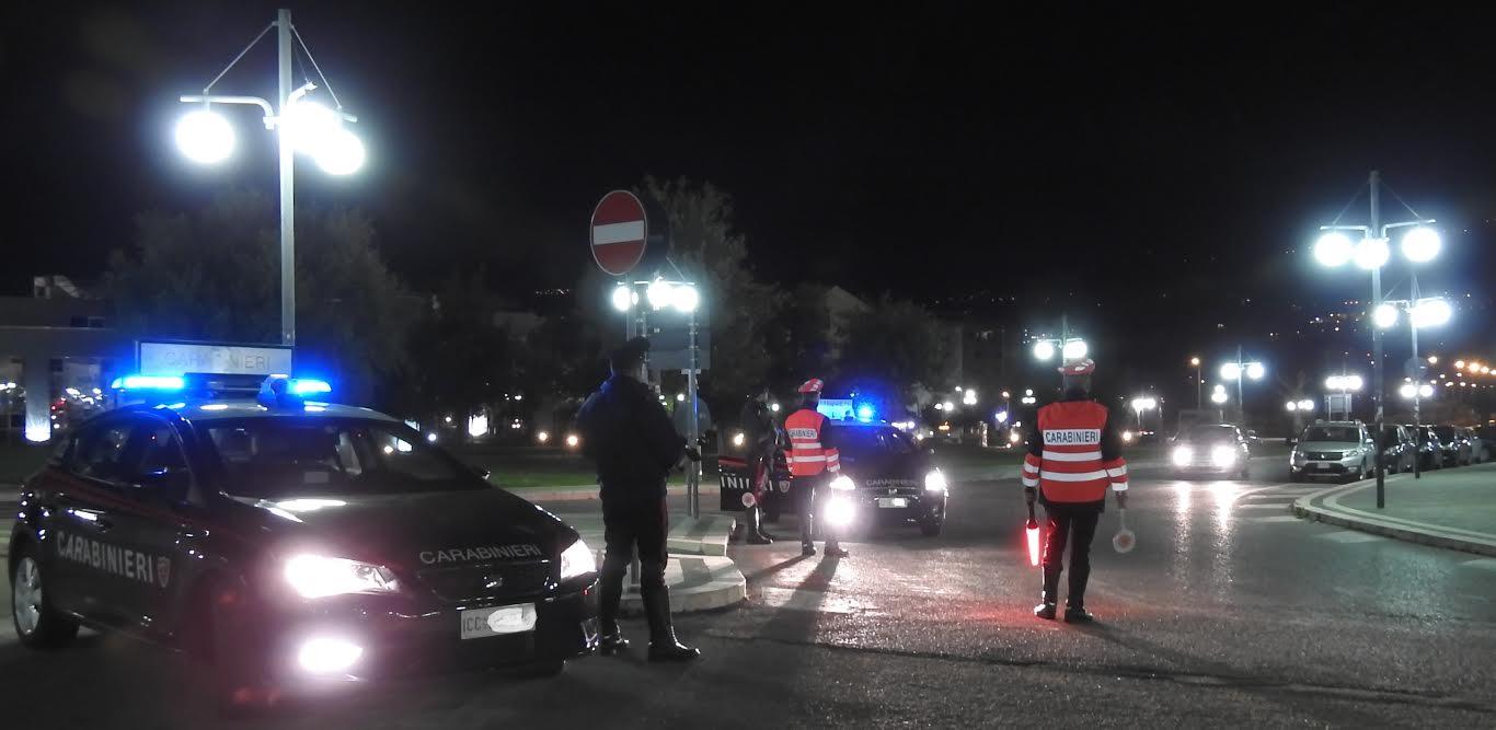 controlli notturni carabinieri di Rende
