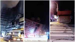 hotel crollato Terremoto Taiwan