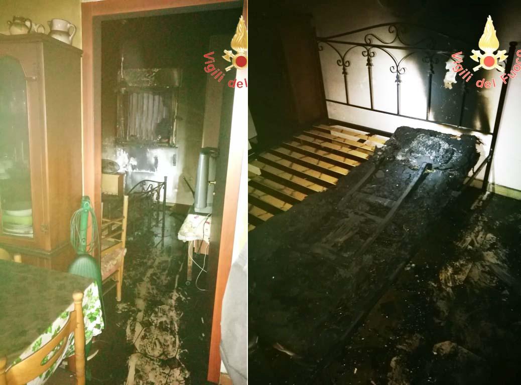 incendio abitazione Falerna