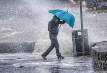 pioggia vento