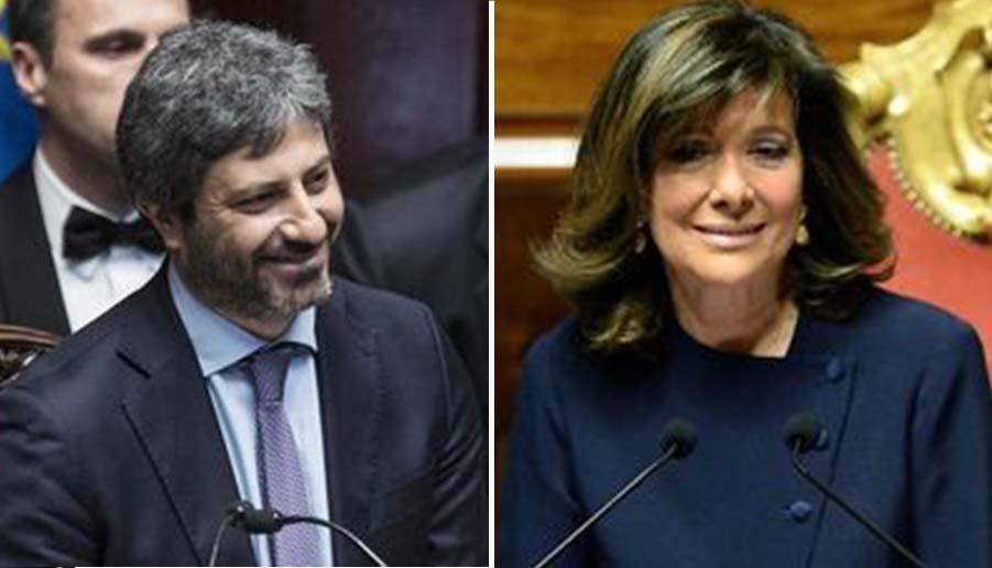 Roberto Fico e Elisabetta Casellati