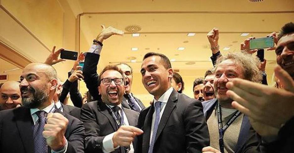 Luigi Di Maio esulta elezioni 2018
