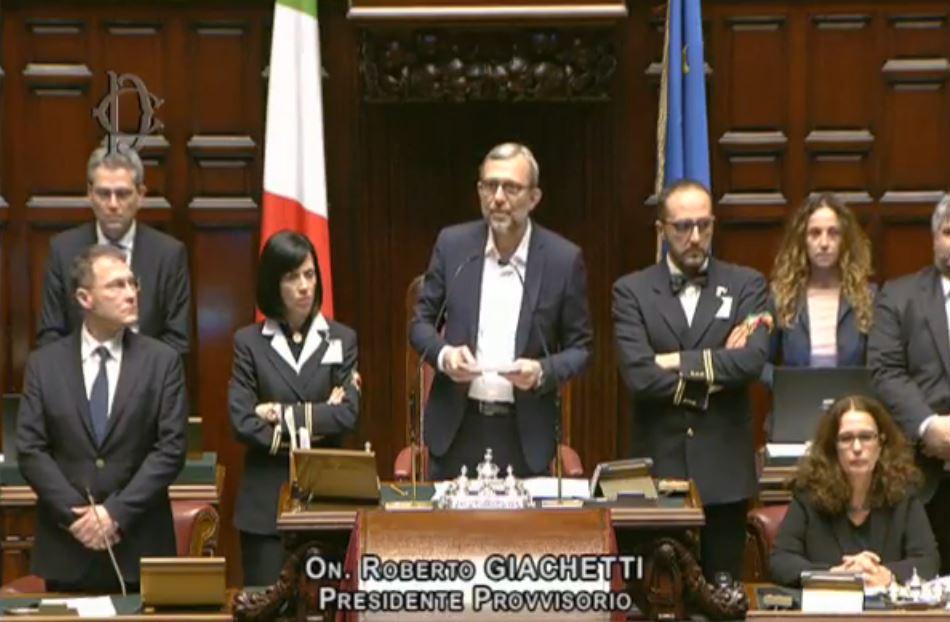 Roberto Giachetti presiede la prima seduta della Camera