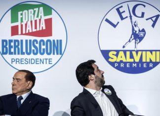 Silvio Berlusconi e Matteo Salvini distanti tra loro
