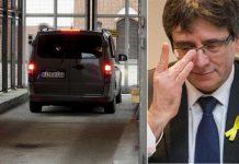 Il furgone con Carles Puigdemont varca la soglia del carcere in Germania