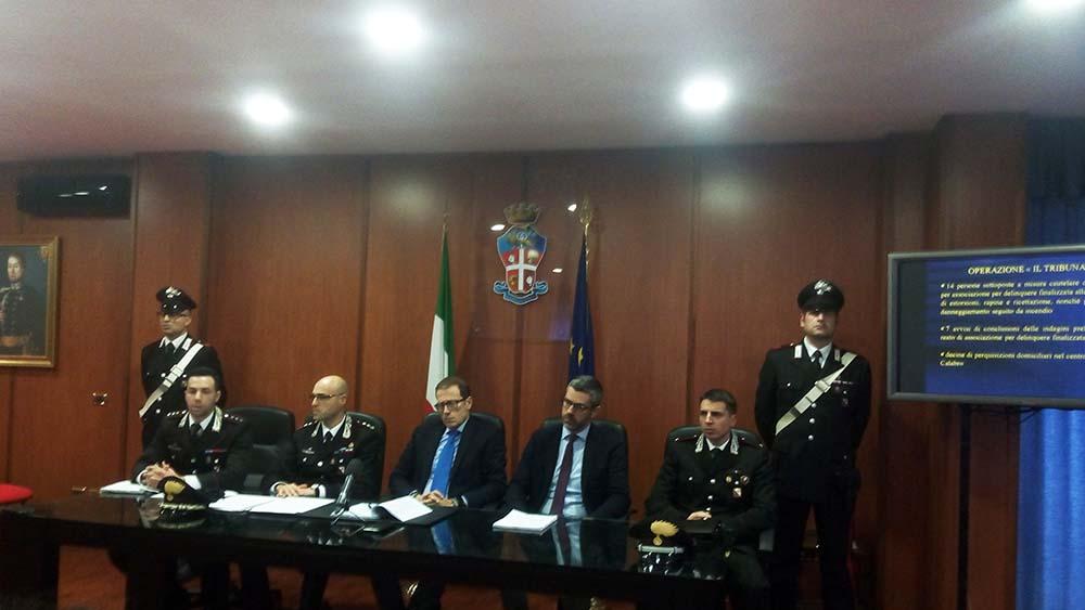 conferenza stampa arresti corigliano