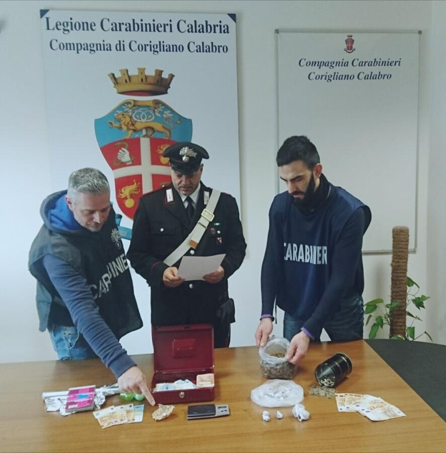 droga carabinieri corigliano