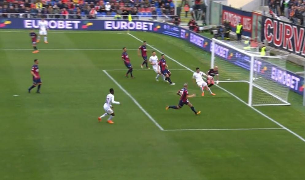 Il gol di El Shaarawi in Crotone Roma