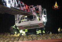 Intervento vigili del fuoco per incendio in abitazione ad Amato