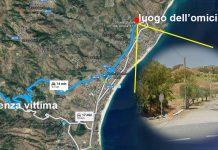 Mappa OLa mappa del possibile percorso in auto fatto da Antonio Ranieri per raggiungere la stradina dove è stato uccisomicidio Antonio Ranieri
