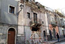 La palazzina di via Sacchero a Catania dove si è verificata l'esplosione