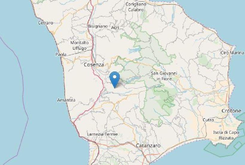 Terremoto di magnituto 3.3 a Parenti (Cosenza)