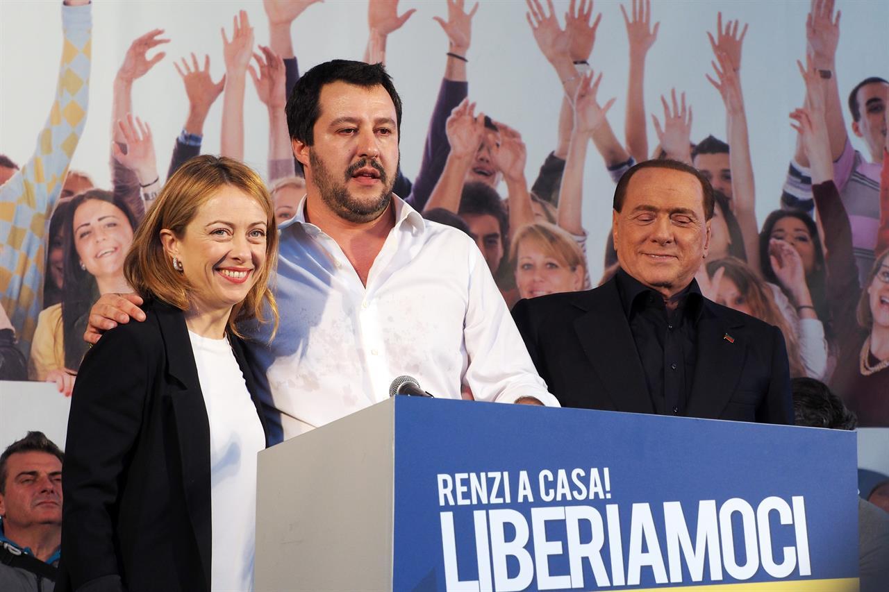 Meloni Salvini Berlusconi