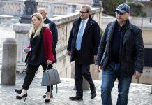 Giorgia Meloni di Fratelli d'Italia arriva al Quirinale