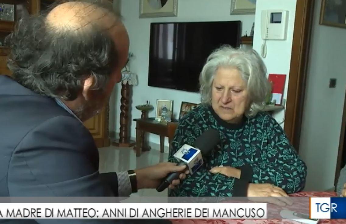 La Signora Rosaria Scarpulla, madre di Matteo Vinci, vittima dell'autobomba a Limbadi
