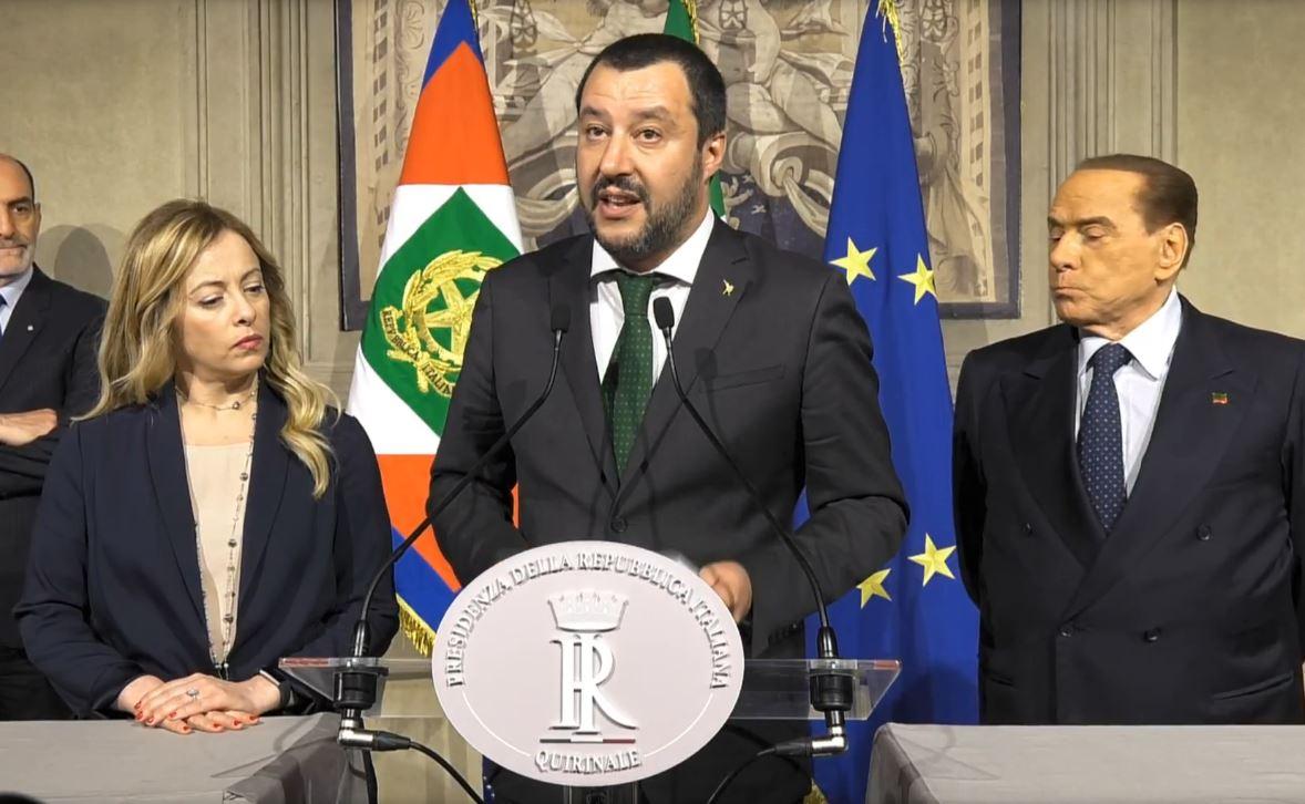 Salvini Meloni Berlusconi quirinale (4)