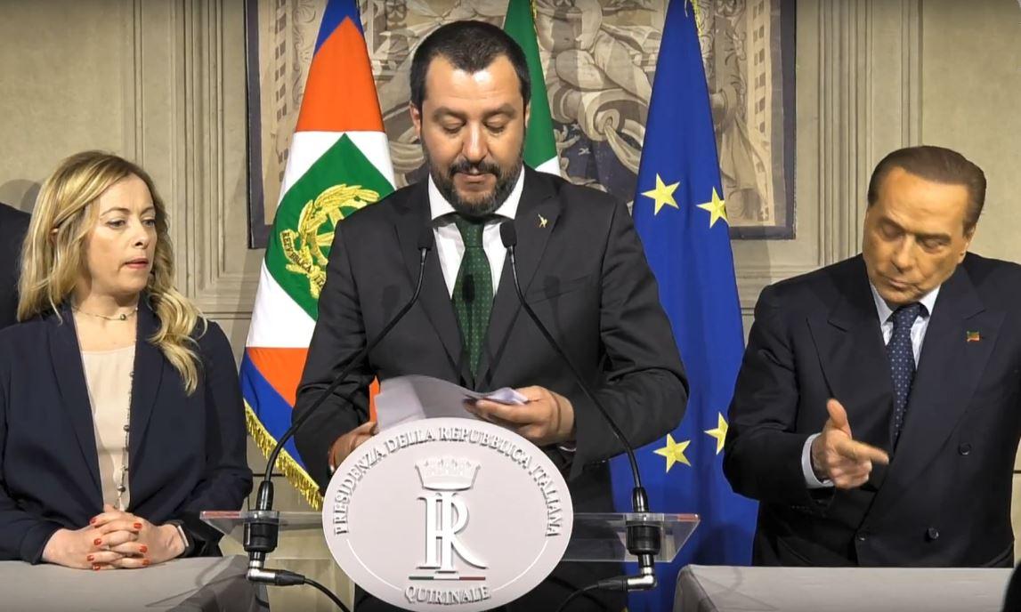Salvini Meloni Berlusconi quirinale