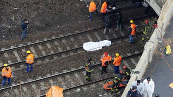cadavere binari ferrovia