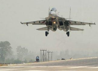 decollo caccia militare