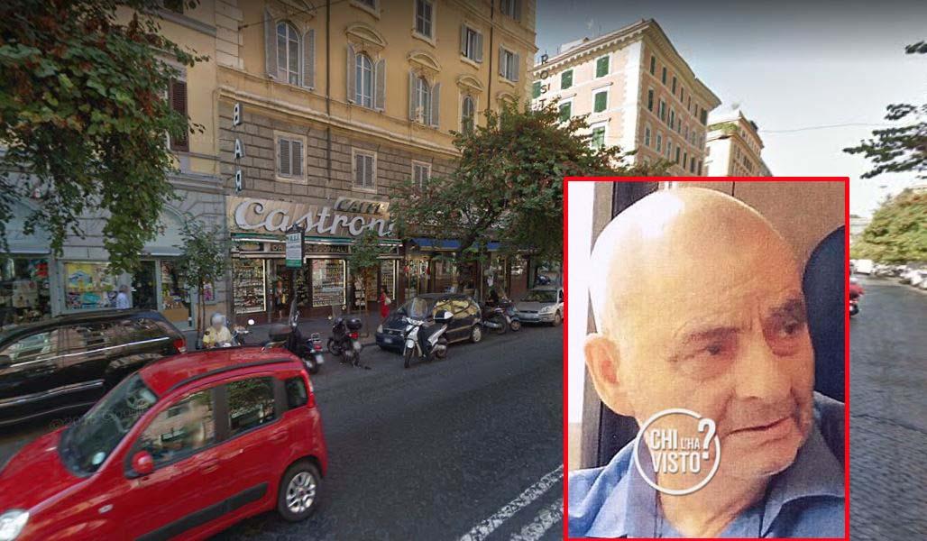 Il punto in Via Cola Di Rienzo a Roma dove è stato visto l'ultima volta Pietro Aloise