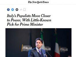 articolo Nyt dedicato a Conte