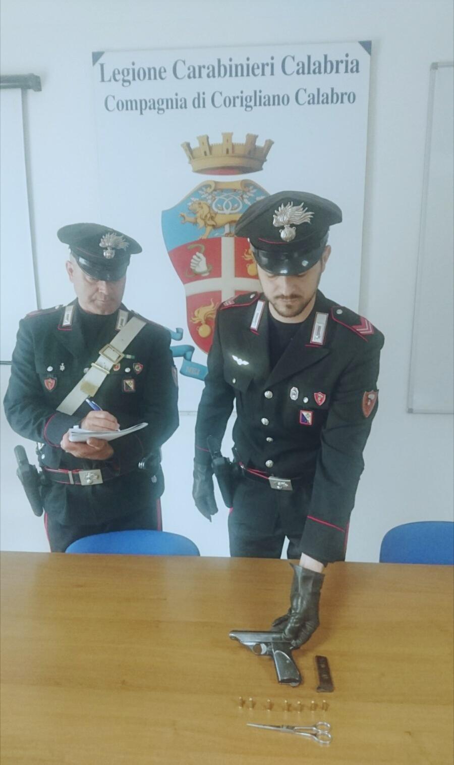 pistola arresto Cassano