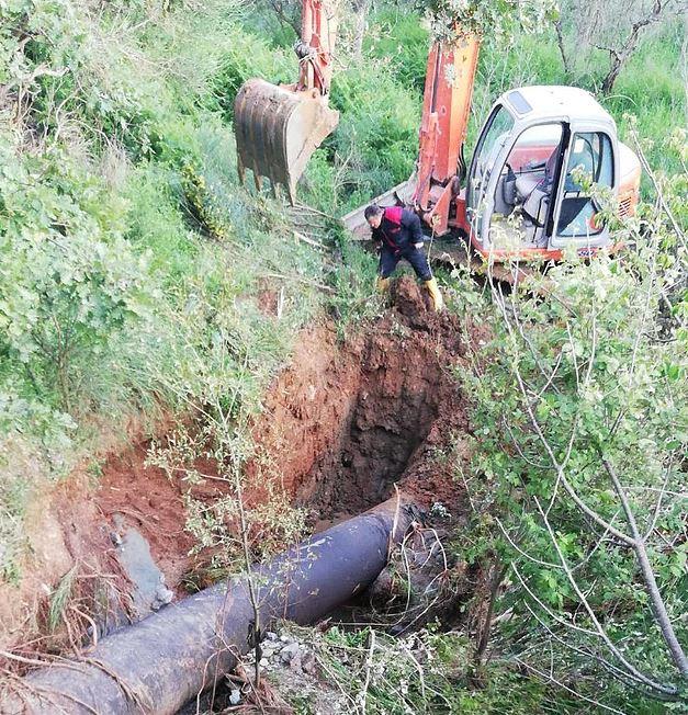 rottura condotta acquedotto Abatemarco