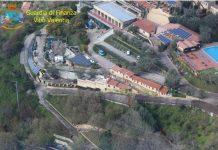 L'area interessata dal sequestro a Drapia.