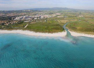Spiaggia a Rosignano-Vada, vicino Livorno