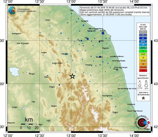 terremoto 3.8 Muccia