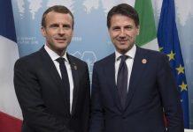 Macron e Conte al G7 in Canada