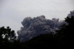 Eruzione Volcan de Fuego Guatemala