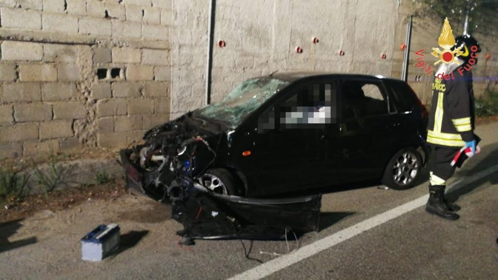 Ford Fiesta incidente Catanzaro