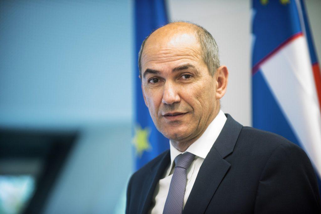Janez Jansa, leader conservatore del Partito democratico sloveno