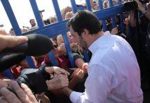 ll ministro dell'Interno, Matteo Salvini a Pozzallo