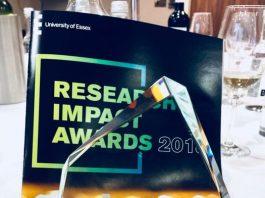 """L'Università di Essex, nel corso di una cerimonia, ha conferito ad Anna Sergi il """"Research Impact Award 2018"""""""