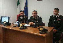 Gli investigatori di Tropea durante la conferenza stampa