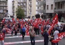 Manifestazione Cgil a Cosenza