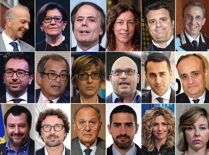 Ecco, il governo Conte; 18 ministri, 5 donneEcco, il governo Conte; 18 ministri, 5 donne