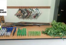 Anziana trovata con piccola piantagione marijuana e uomo arrestato per due fucili e munizioni