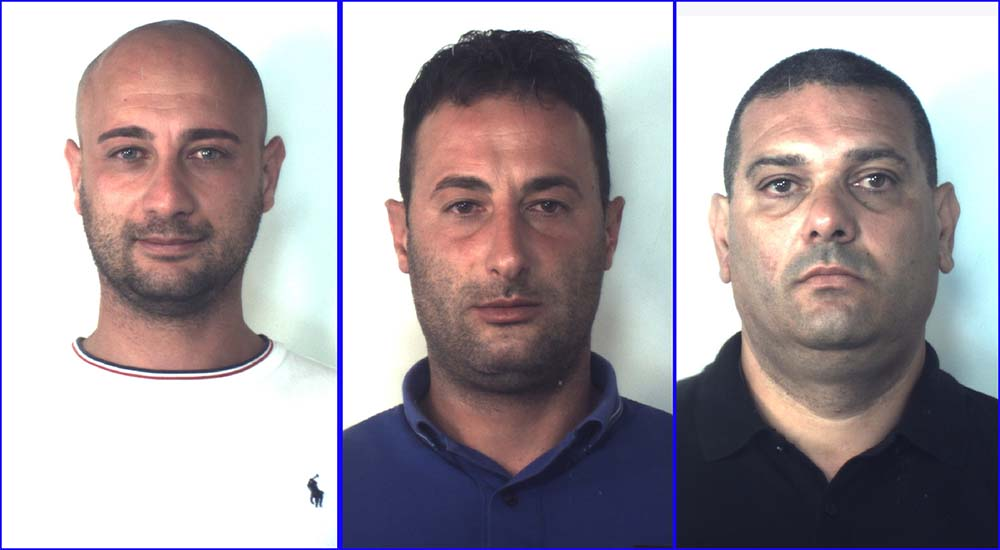 In foto Diego Zappia, Antonino Crupi e Giuseppe Germanò
