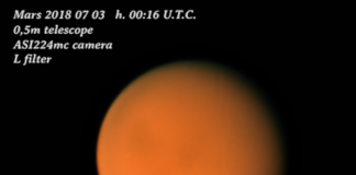 Marte fotografato dalla Thailandia