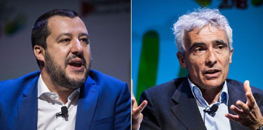 Matteo Salvini e Tito Boeri