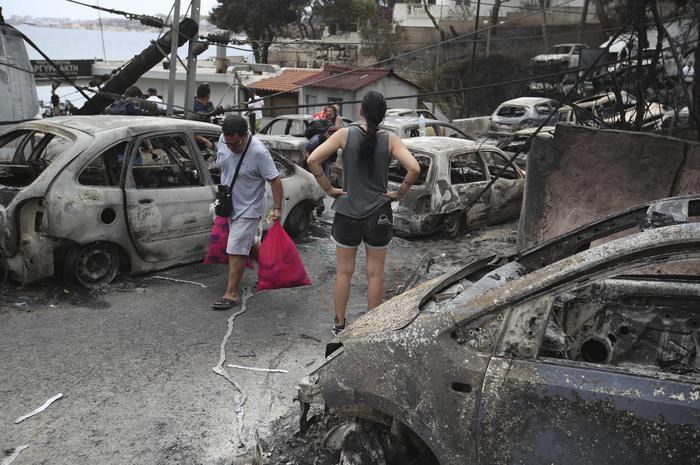 Incendio in Grecia