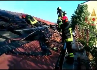 incendio stazione Sant'Andrea sullo Ionio